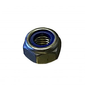 nyloc nut, stainless steel