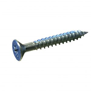 wood screw, zinc plated