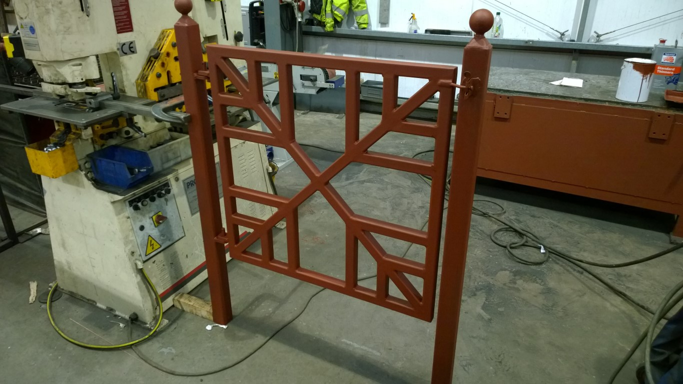 Gate with posts
